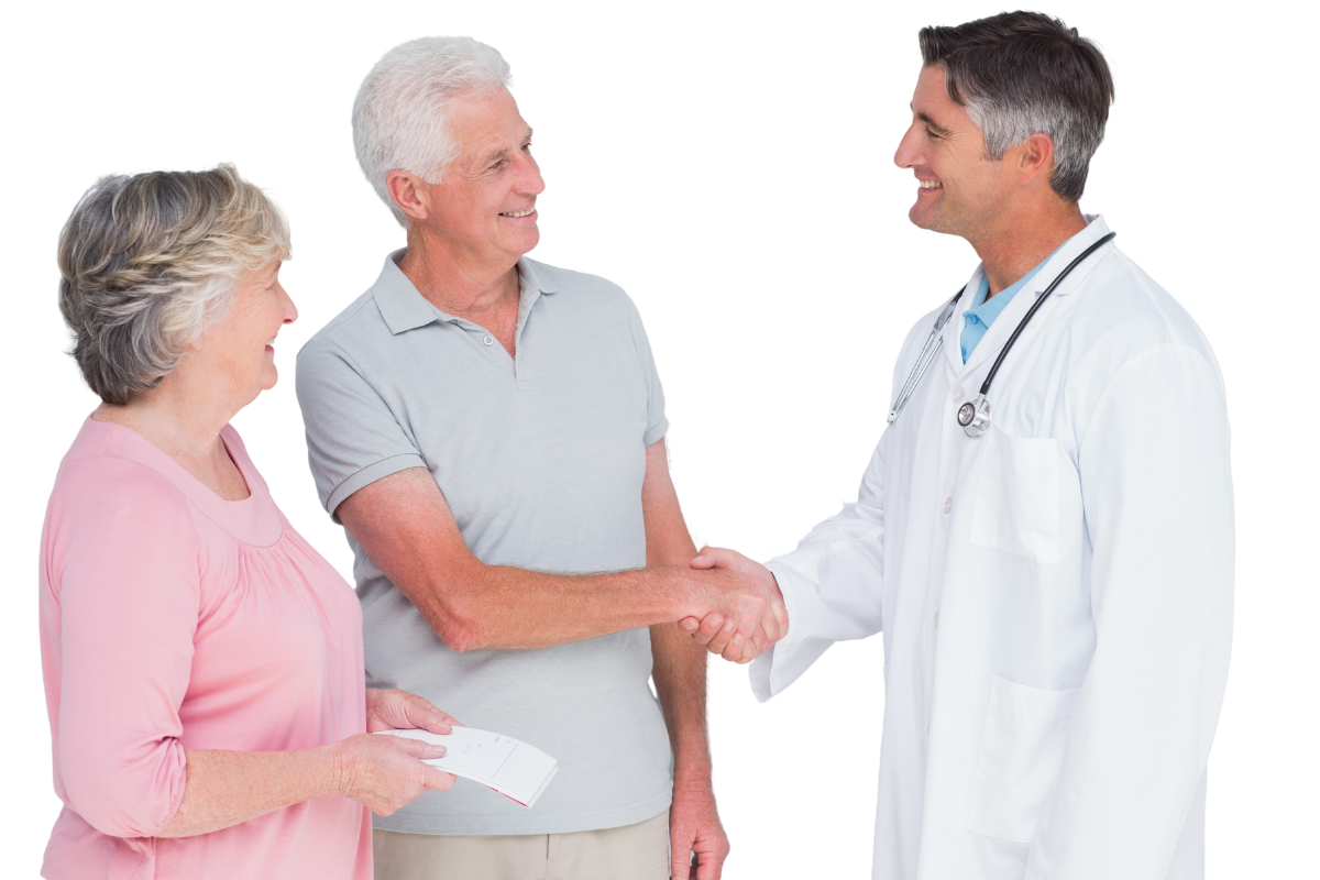Doctor with Couple - Health Insurance